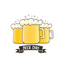 international beer day label vector image