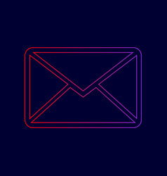 letter sign line icon with vector image