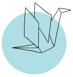 Paper crane vector image vector image