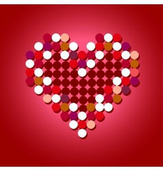 Red halftone heart vector