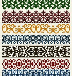 retro lines set vector image
