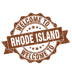 Rhode island round ribbon seal vector