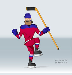 russian ice hockey player vector image vector image