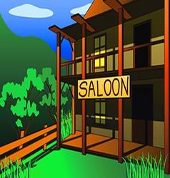 saloon vector image