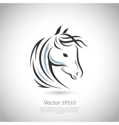 sign Horse logo vector image