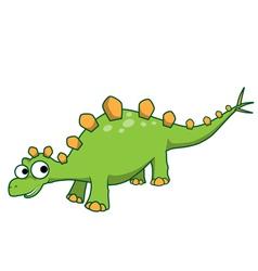 Stegosaurus cartoon vector image