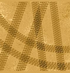 Tire tracks on sand vector