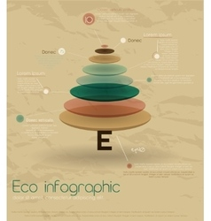 Vintage eco infographic with fir-tree vector image vector image