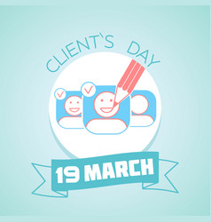 19 march clients day vector