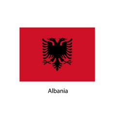 flag of albania vector image