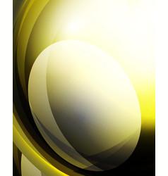 shiny wave glass futuristic hi-tech design vector image