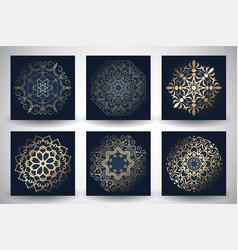 Decorative mandala style backgrounds vector