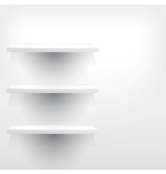 Isolated empty shelf for exhibit vector
