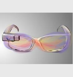 Google glass vector