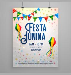 Festa junina celebration party invitation vector