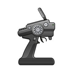 Rc car radio control icon on white background vector