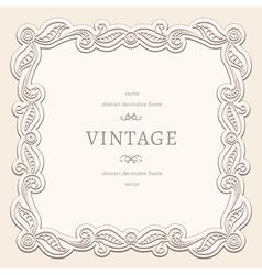 Vintage square frame vector image