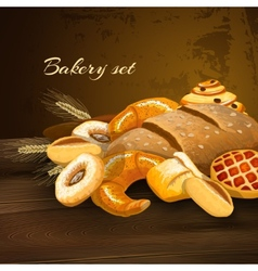 Bakery bread poster vector