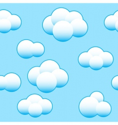 abstract light blue sky background vector image