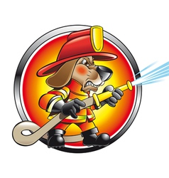 Urban firefighter vector