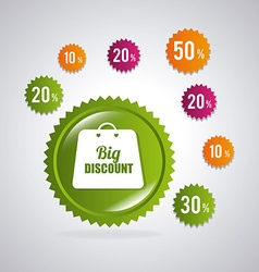 Shopping special offers discounts and promotions vector