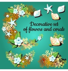 Decorative articles made of corals and colors vector