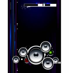 Speakers futuristic vector