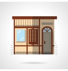 Storefronts flat color icon post office vector