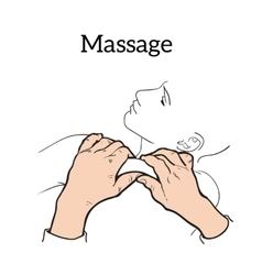 Therapeutic manual massage medical therapy vector