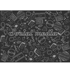 Social media chalk vector image