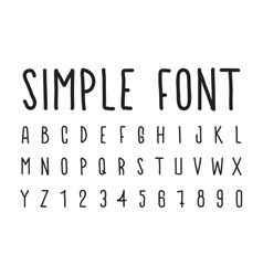 Simple decorative font handwritten vector