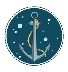 anchor and rope vector image