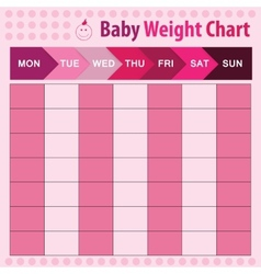 Baby weight chart vector