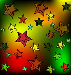 Background of the stars vector image vector image