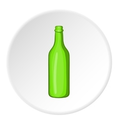 Beer bottle icon cartoon style vector image vector image
