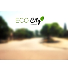 blurry country background street eco vector image vector image
