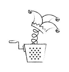 Box jester cap toy vector