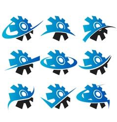 Cog Logo Icons vector image