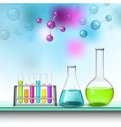 Color tubes and molecules composition vector