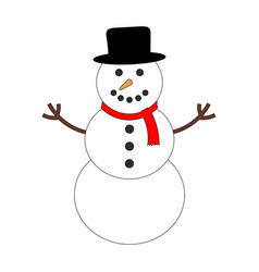 colorful snowman icon vector image vector image