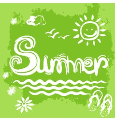 Creative graphic for summer Watercolor vector image vector image