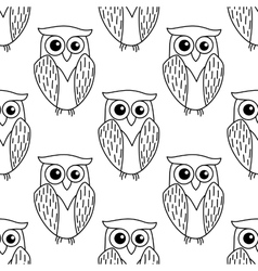 Cute little owl seamless pattern vector image vector image