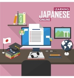 E-learning japanese language vector