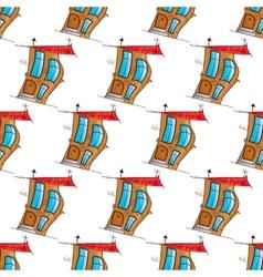 fairy house seamless vector image