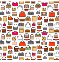 Fashion bags seamless pattern vector