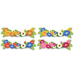 Floral border designs vector