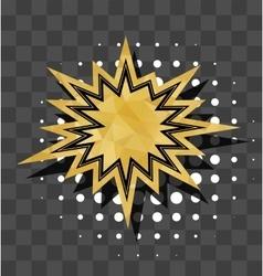 Gold sparkle star comic text bubble vector image