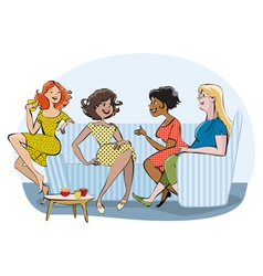 Group of chatting women vector image vector image
