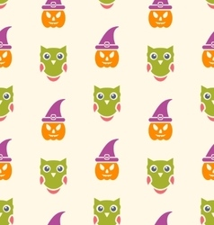 halloween seamless pattern design vector image vector image