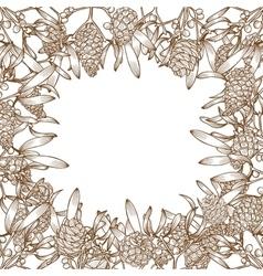 Hand drawn Christmas card vector image vector image
